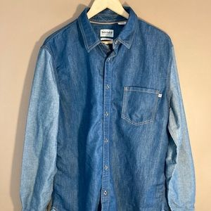 Timberland denim cotton two shades button shirt